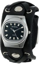 Red Monkey Designs Unisex RM666-XA1 X-Strap 1 Black Leather Black Dial