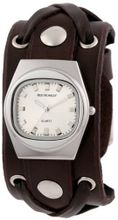 Red Monkey Designs Unisex RM666-XA4 X-Strap 4 Brown Leather White Dial
