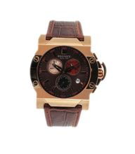 R?gnier Dilys R1345 Chronograph 2041072 with Brown Leather Strap