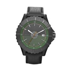 Relic by Fossil Avondale Green Dial Black Leather ZR11992