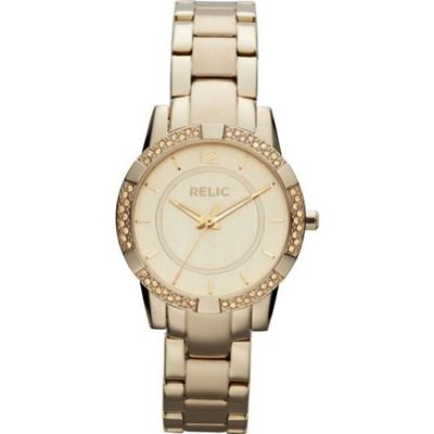 Relic by Fossil Payton Gold Tone Crystal Stainless Steel ZR34202