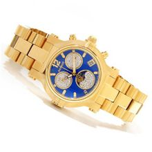 Renato Beauty Limited Diamond Moon Phase Chronograph Blue Dial Goldtone Limited Edition