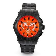 Renato Big Buzo BB52-O Swiss Chronograph Orange Dial 1650ft Diver Black Stainless Steel