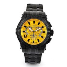 Renato Big Buzo BB52-Y Swiss Chronograph Yellow Dial 1650ft Diver Black Stainless Steel