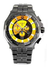 Renato Big Mostro 55MOG-Y Swiss Chronograph Sunray Yellow Dial Divers Bracelet