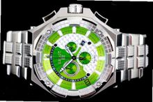 Renato Big Mostro 55MOS-G Swiss Chronograph Green Dial Stainless Steel