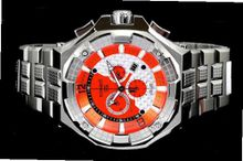 Renato Big Mostro 55MOS-O Swiss Chronograph Orange Dial Stainless Steel