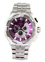 Renato Big Mostro 55MOS-P Swiss Chronograph Purple Dial Stainless Steel