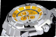 Renato Big Mostro 55MOS-Y Swiss Chronograph Yellow Dial Stainless Steel