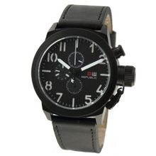 Republic Black Leather Analog Chronograph Quartz RP1069