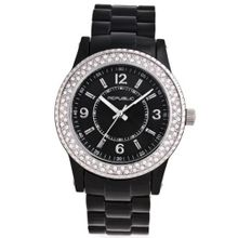 Republic Black Resin Strap Glitz RP1089
