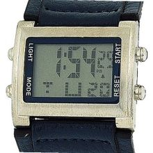Retro Boys / Digital Chronograph Blue Pu Wide Strap Sports RETRO-9B