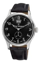Revue Thommen 16060.2537 Air speed Black Leather Strap Big Date