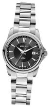 Roamer Ares Quartz with Black Dial Analogue Display and Silver Stainless Steel Bracelet 730844 41 55 70