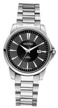 Roamer Ares Quartz with Black Dial Analogue Display and Silver Stainless Steel Bracelet 730856 41 55 70