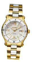 Roamer Ceraline Pure Quartz with Mother of Pearl Dial Analogue Display and Gold Stainless Steel Bracelet 942980 48 23 90