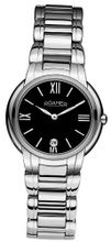 Roamer Dreamline Grande Classe Quartz with Black Dial Analogue Display and Silver Stainless Steel Bracelet 652857 41 53 60
