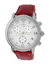 Roberto Bianci 1822DIA_WHT_REDBND Diamond Accented Chronograph Date