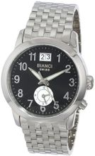 "Roberto Bianci 1856D_BLK ""Eleganza"" Dual-Time Zone And Date"
