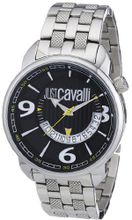 Just Cavalli Earth Analogue R7253181025 with Quartz Movement, Stainless Steel Bracelet and Black Dial