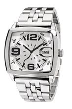 Just Cavalli R7253325045 In Collection Screen, 3 H and S, Silver White Dial and Stainless Steel Bracelet