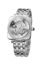 Roberto Cavalli Bohemienne Analog R7253166015 with Quartz Movement, Stainless Steel Bracelet and Silver Dial