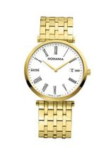 Rodania Swiss Elios Quartz with White Dial Analogue Display and Gold Stainless Steel Gold Plated Bracelet RS2505762
