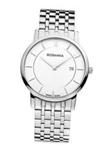 Rodania Swiss Elios Quartz with White Dial Analogue Display and Silver Stainless Steel Bracelet RS2504540