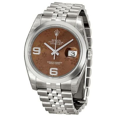 Rolex Datejust Bronze Floral Automatic Stainless Steel Ladies 116200BRFAJ