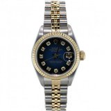 Rolex New Style Heavy Band Stainless Steel & 18K Gold Datejust Model 116233 Jubilee Band Fluted Bezel White Diamond Dial