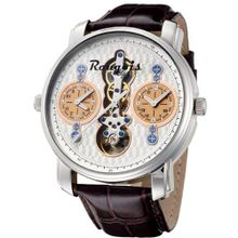 Rougois Dual Time Open Heart with Leather Band RSO84