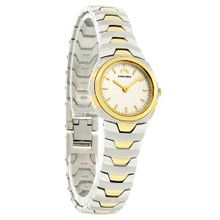 Roven Dino Astor Ladies Thin Silver Two Tone Swiss Quartz Dress 2021LTT05