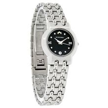Roven Dino Azza Ladies Black Dial Stainless Steel Swiss Quartz 6005LSS12