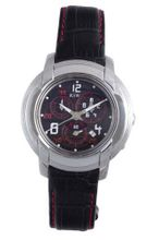 RSW 4130.BS.L1.14.00 Volante Round Black Dial Chronograph Sapphire Crystal with Red Topstitching