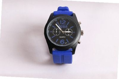 BARCELONA BLUE Unisex 100 Percent Silicone Textured Strap