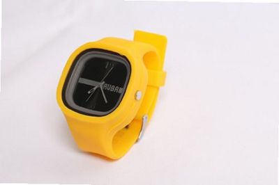 RUBR I YELLOW/BLACK Unisex Oversized Silicone Japanese Quartz