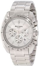 Rudiger R1000-04-001 Dresden Silver Luminous Dial Solid Steel Chronograph Tachymeter