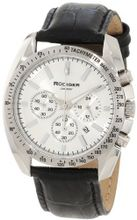 Rudiger R1000-04-001L Dresden Silver Luminous Dial Black Leather Chronograph Tachymeter