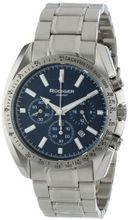 Rudiger R1000-04-003 Dresden Blue Luminous Dial Solid Steel Chronograph Tachymeter