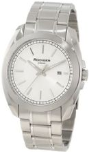 Rudiger R1001-04-001 Dresden Solid Stainless Steel Silver Dial Date