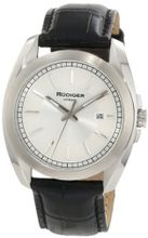 Rudiger R1001-04-001L Dresden Black Leather Silver Dial
