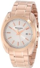 Rudiger R1001-09-001 Dresden Rose Gold IP Silver Dial Date