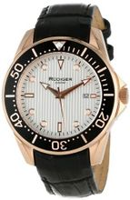 Rudiger R2000-09-001L Chemnitz Rose Gold IP Case Silver Luminous Dial