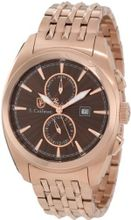 S. Coifman Brown Dial 18k Rose Gold Ion-Plated Stainless Steel