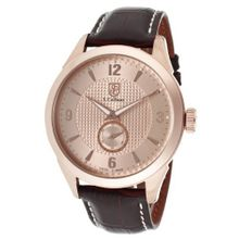 S. Coifman SC0116 Rose Textured Dial Black Leather