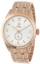 S. Coifman SC0119 Silver Textured Dial 18k Rose Gold Ion-Plated Stainless Steel