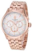 S. Coifman SC0129 Silver Textured Dial 18k Rose Gold Ion-Plated Stainless Steel