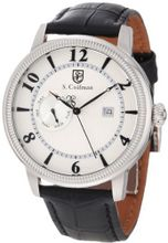 S. Coifman SC0191 Silver Textured Dial Black Leather