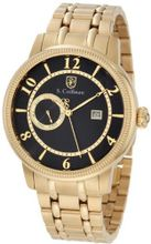 S. Coifman SC0197 Black Textured Dial 18k Gold Ion-Plated Stainless Steel