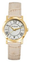 Saint Honore 751020 3AR Trocadero Paris Gold PVD Stainless Steel Genuine Leather Date